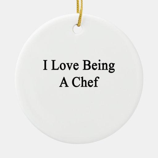 Amo el ser cocinero ornamentos para reyes magos