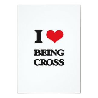Amo el ser cruz invitación 12,7 x 17,8 cm