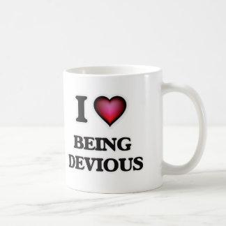 Amo el ser desviado taza de café