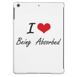 Amo el ser diseño artístico absorbente funda para iPad air