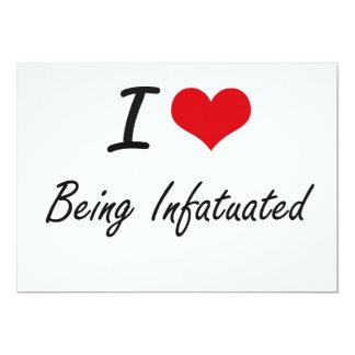 Amo el ser diseño artístico enamorado invitación 12,7 x 17,8 cm