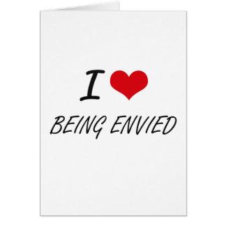 Amo el ser diseño artístico envidiado tarjeta de felicitación