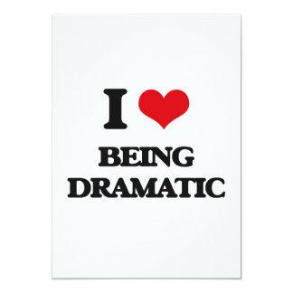 Amo el ser dramático invitación 12,7 x 17,8 cm
