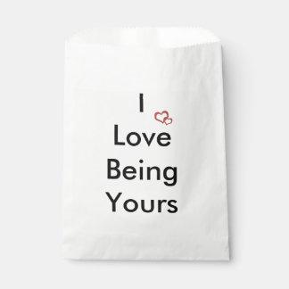 Amo el ser el suyo bolsa de papel