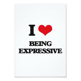 Amo el ser expresivo invitación 8,9 x 12,7 cm