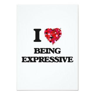 Amo el ser expresivo invitación 12,7 x 17,8 cm