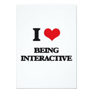 Amo el ser interactivo invitación 12,7 x 17,8 cm