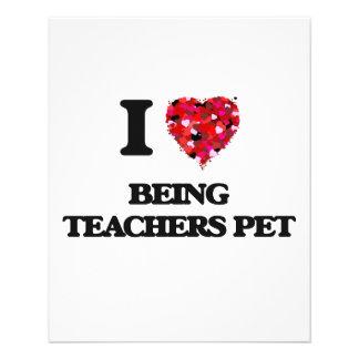 Amo el ser mascota de los profesores folleto 11,4 x 14,2 cm