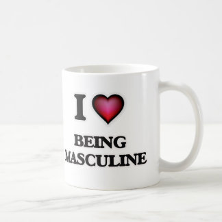 Amo el ser masculino taza de café