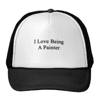 Amo el ser pintor gorros bordados