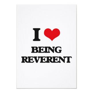 Amo el ser reverente invitación 12,7 x 17,8 cm