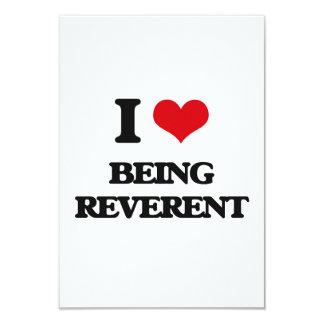 Amo el ser reverente invitación 8,9 x 12,7 cm