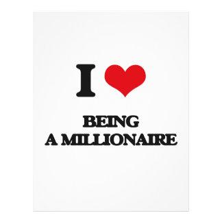 Amo el ser un millonario tarjetas publicitarias