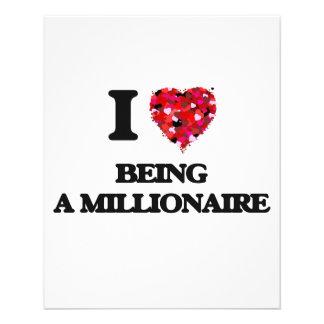 Amo el ser un millonario folleto 11,4 x 14,2 cm