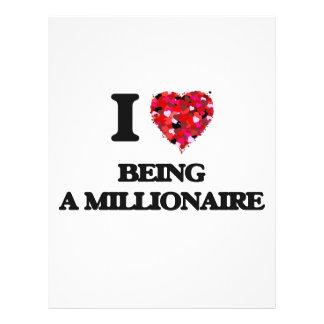 Amo el ser un millonario folleto 21,6 x 28 cm