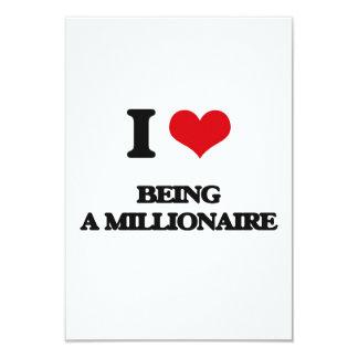Amo el ser un millonario invitación 8,9 x 12,7 cm