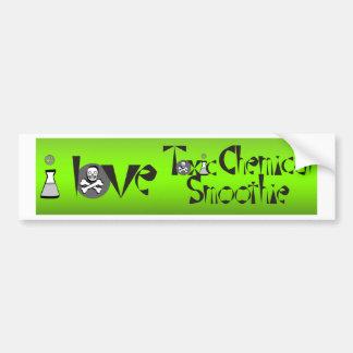 Amo el Smoothie químico tóxico Etiqueta De Parachoque