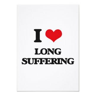 Amo el sufrimiento largo invitación 12,7 x 17,8 cm