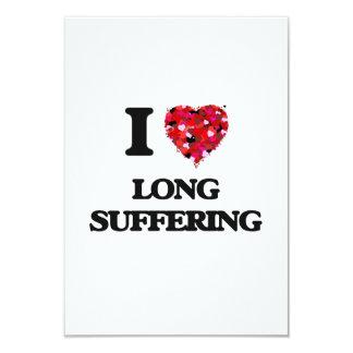 Amo el sufrimiento largo invitación 8,9 x 12,7 cm