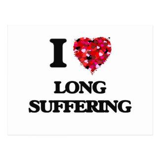 Amo el sufrimiento largo postal