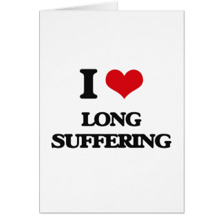 Amo el sufrimiento largo tarjeta de felicitación