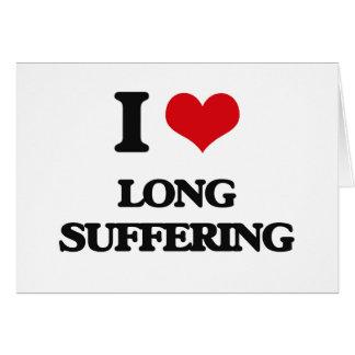 Amo el sufrimiento largo tarjeton