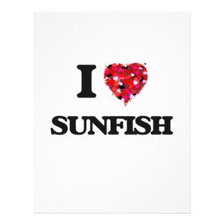 Amo el Sunfish Folleto 21,6 X 28 Cm