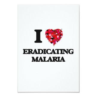 Amo el suprimir de malaria invitación 8,9 x 12,7 cm