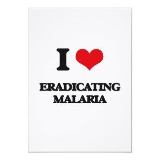 Amo el suprimir de malaria invitación 12,7 x 17,8 cm