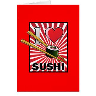 Amo el sushi - Lets almuerza Tarjeta