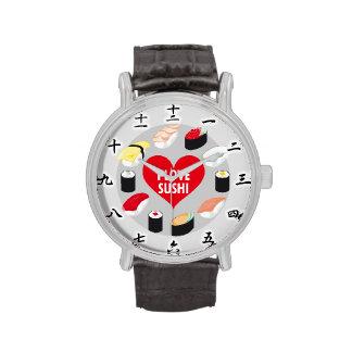 Amo el sushi reloj