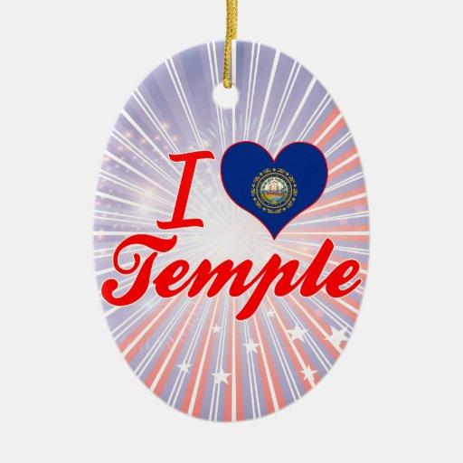 Amo el templo, New Hampshire Ornaments Para Arbol De Navidad