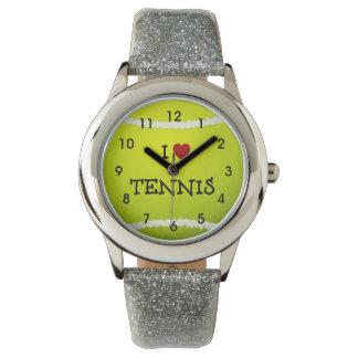 Amo el tenis - pelota de tenis relojes de pulsera