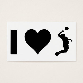 Amo el voleibol (el varón) tarjeta de negocios