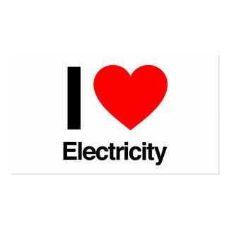 amo electricidad plantilla de tarjeta de visita