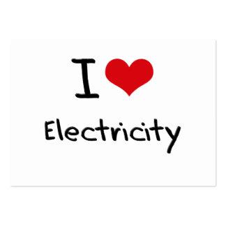 Amo electricidad tarjeta de visita