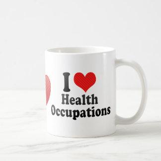 Amo empleos de la salud taza