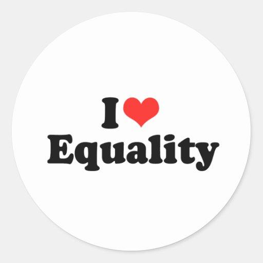 AMO EQUALITY.png Pegatina Redonda