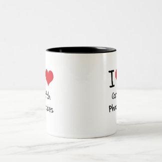 Amo esloganes tazas