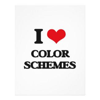 Amo esquemas de color tarjetas publicitarias