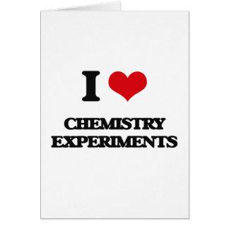 Amo experimentos de la química tarjeta de felicitación