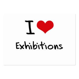 Amo exposiciones tarjetas de visita grandes