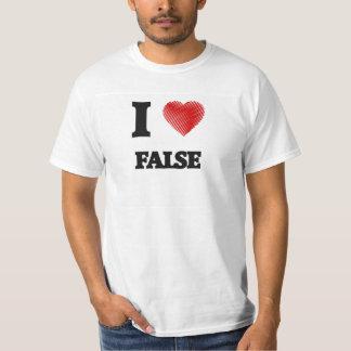 Amo falso camisas