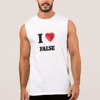 Amo falso camisetas sin mangas