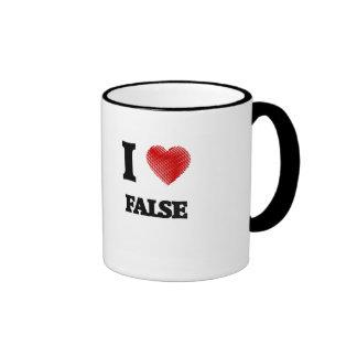 Amo falso taza de dos colores