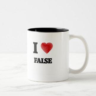 Amo falso taza de dos tonos