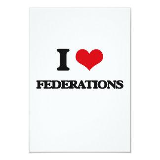 Amo federaciones invitación 8,9 x 12,7 cm