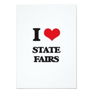 Amo ferias del estado invitación 12,7 x 17,8 cm