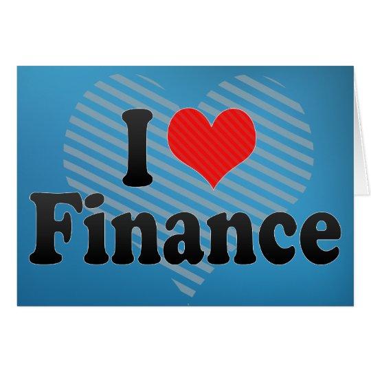 Amo finanzas tarjeta de felicitación