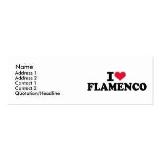 Amo flamenco tarjeta de visita